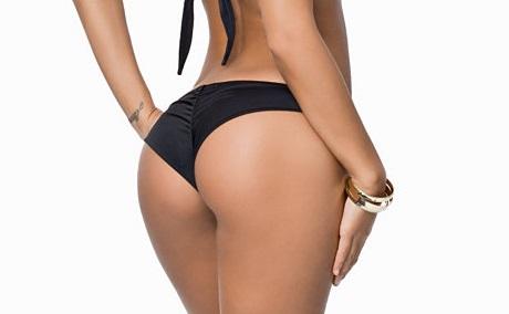 svart bikinitrosa med scrunch butt från Nelly