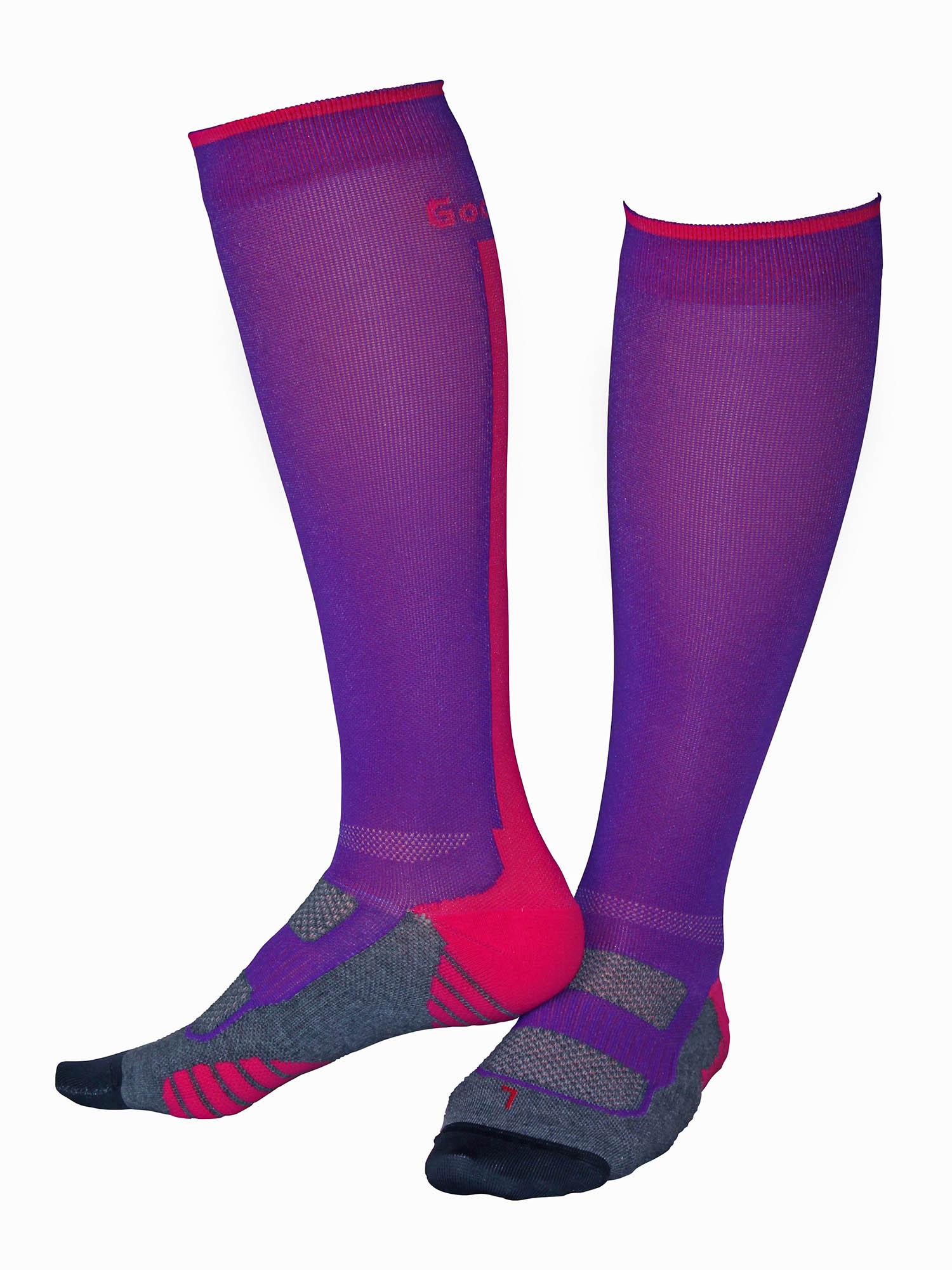 Gococo kompressions strumpor i rosa och lila