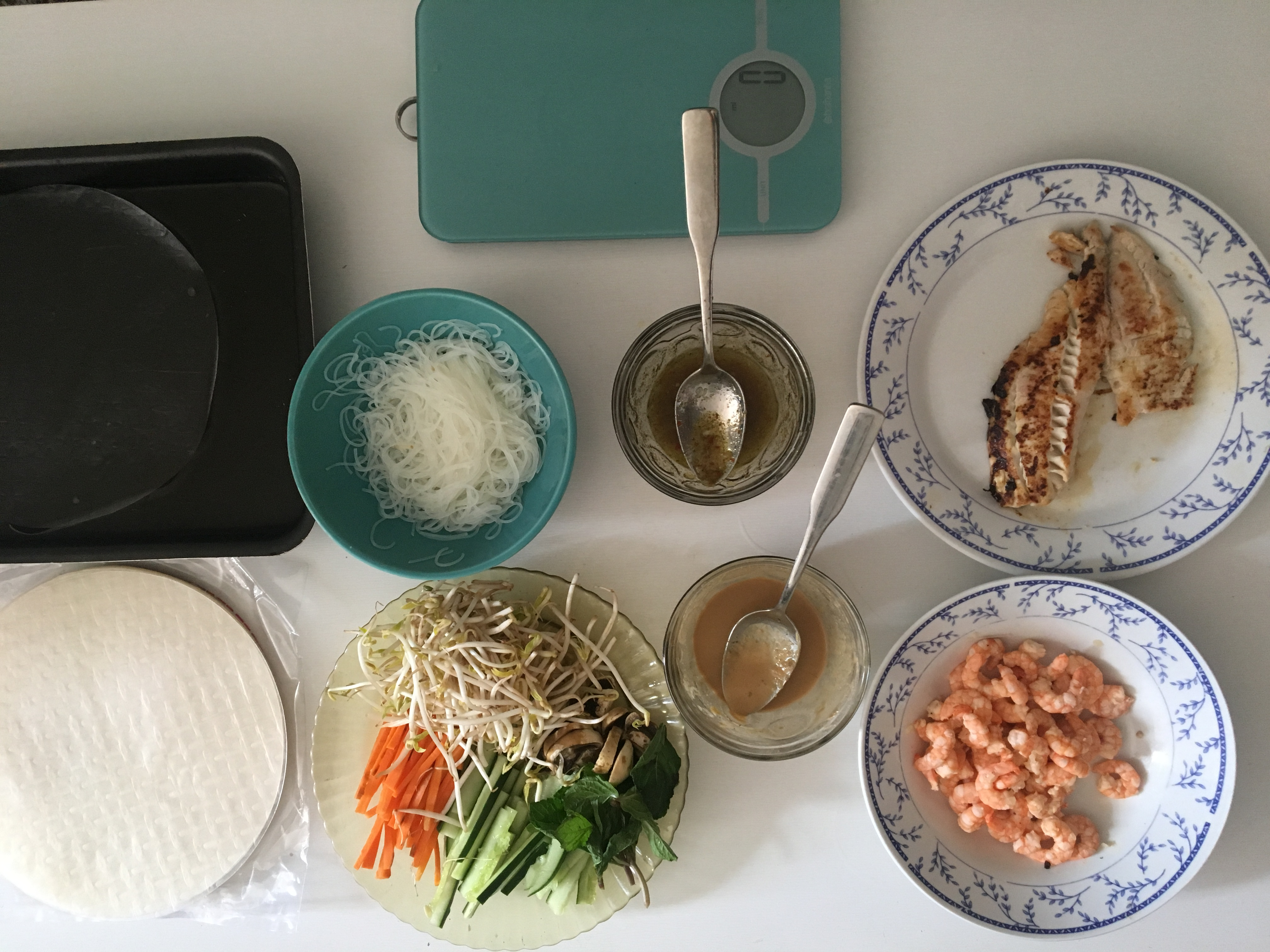 Färska vårrullar räkor eller veganska