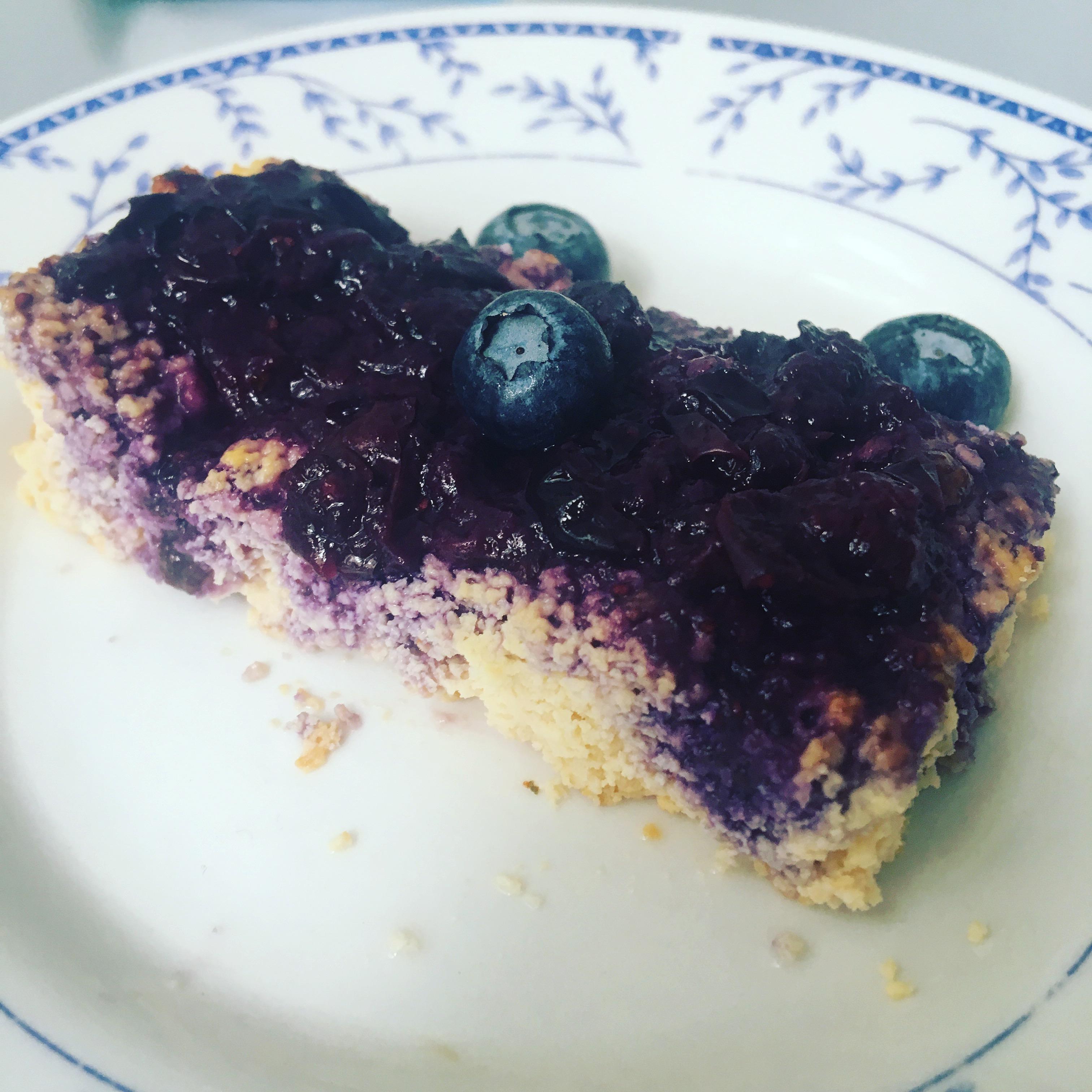 Nyttig protein-cheesecake utan sötningsmedel