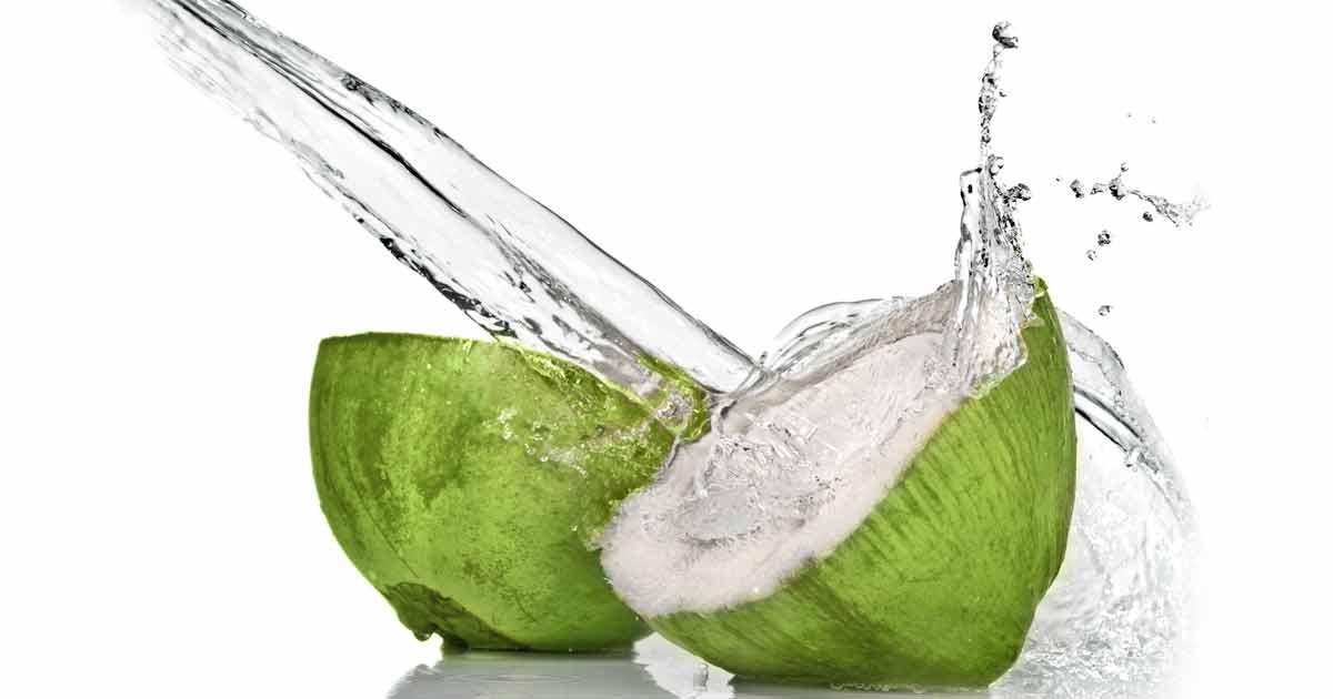 Kokosvatten efter träning