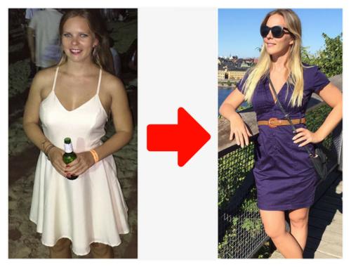 Flexible dieting på svenska IIFYM före och efter viktnedgång