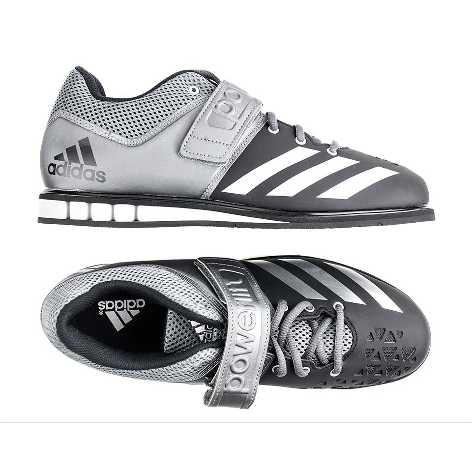 Lyftarskor för kvinnor Adidas Powerlift 3 svart grått silver