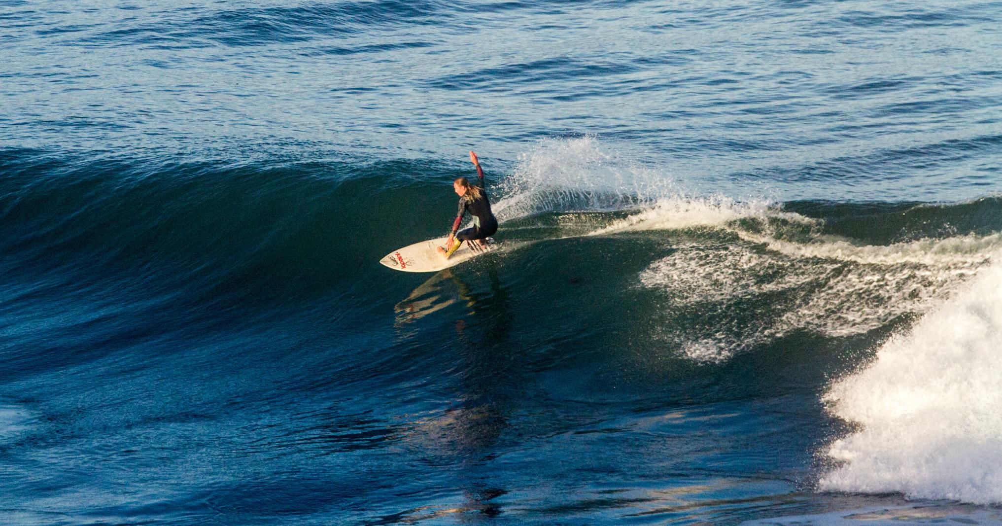 Maria Petersson svensk surfare om surfingi Sverige