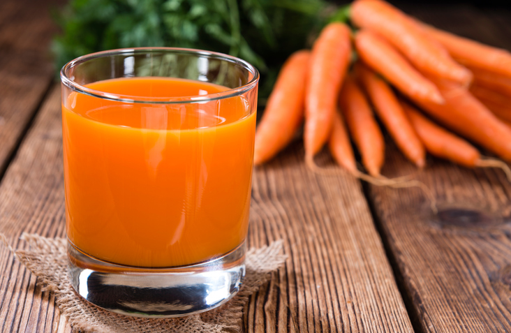 Morotsjuice mot förkylning innehåller betakaroten