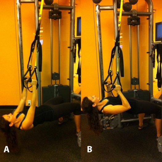 TRX övning pull ups