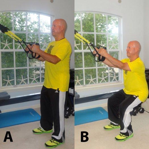 TRX övning knäböj squats
