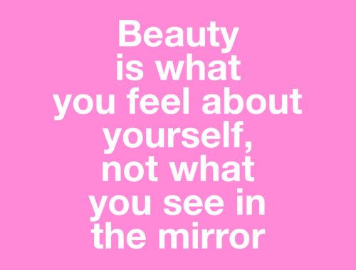 Hur blir man snygg om att känna sig vacker