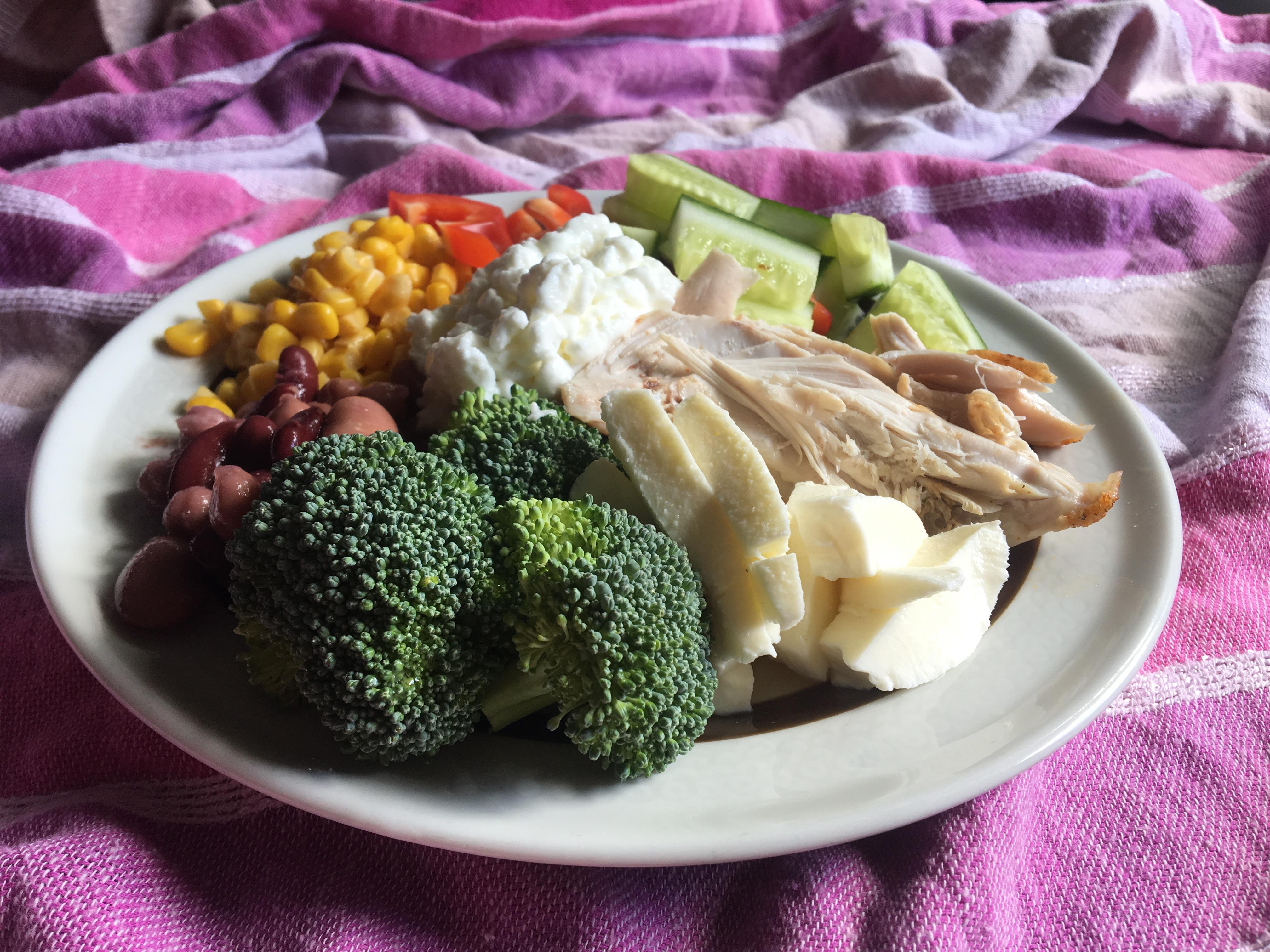 Hälsotallrik nyttig och god mat