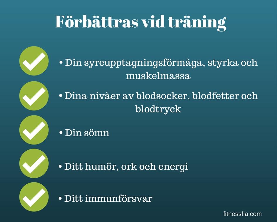 Hälsoeffekter av träning