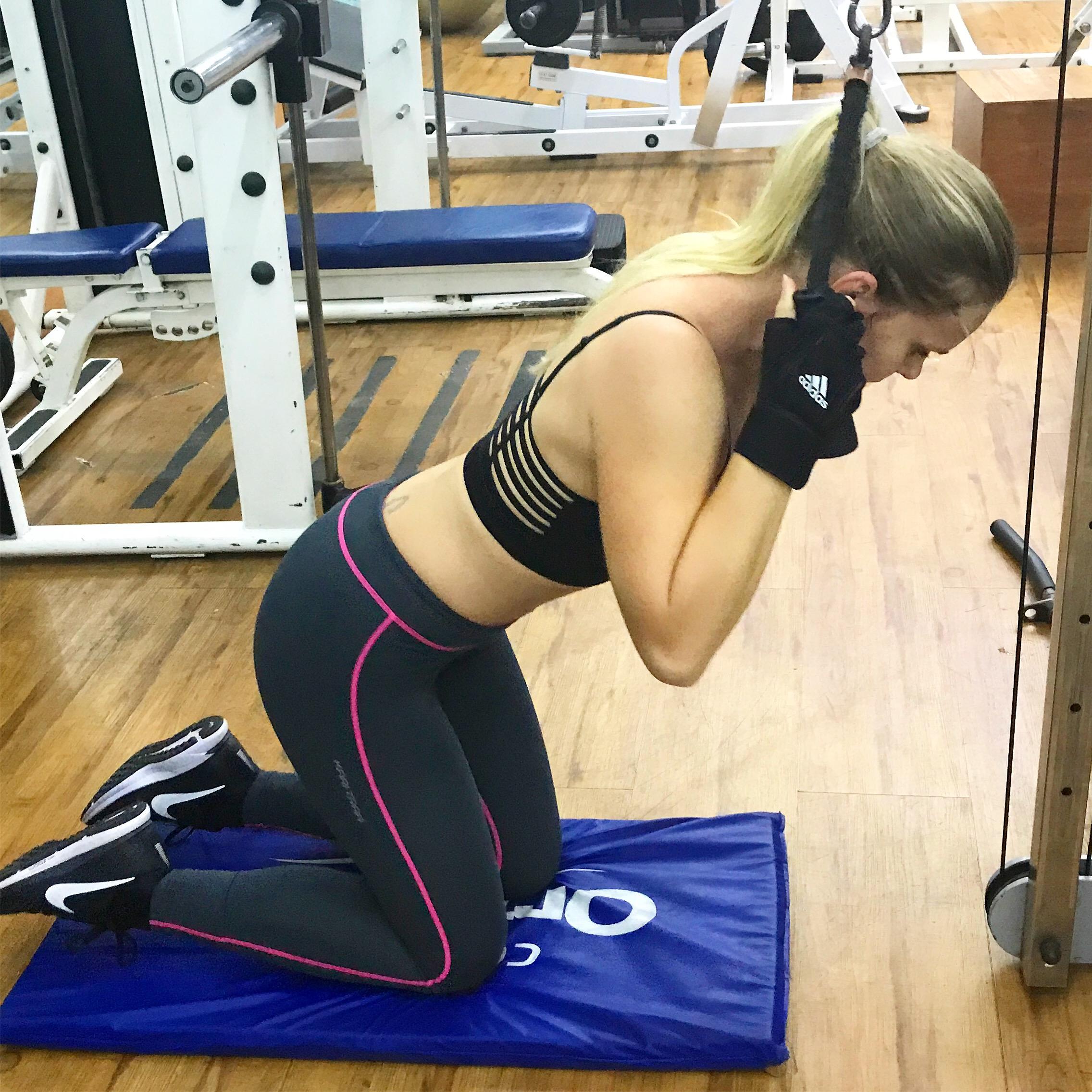 Effektiv och bra magövning på gymmet