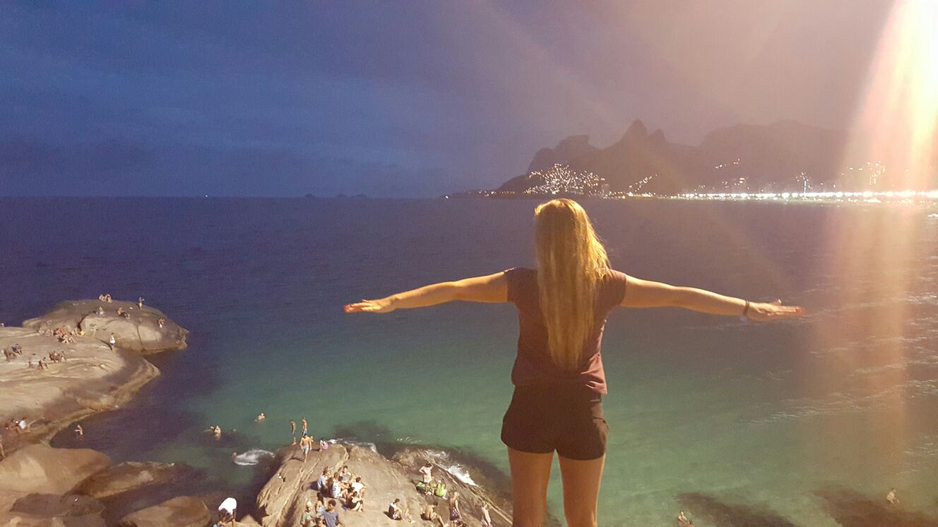 Arpoador Rio de Janeiro solnedgång surfing