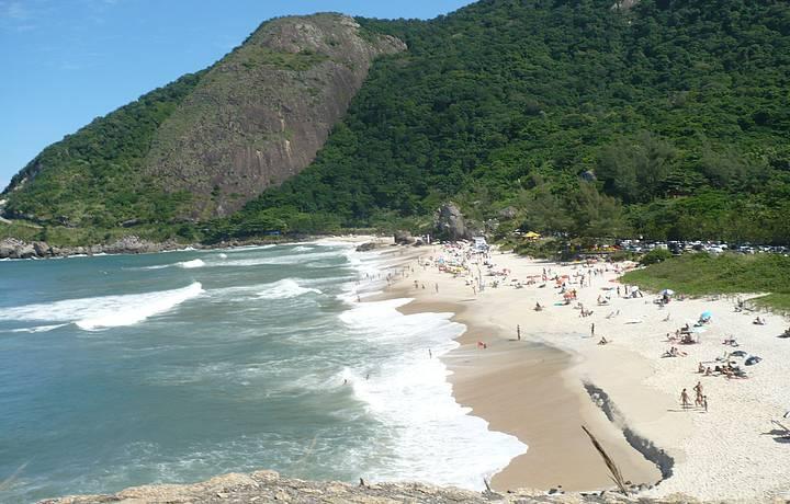 Prainha strand utanför Rio de Janeiro dagsutflykt