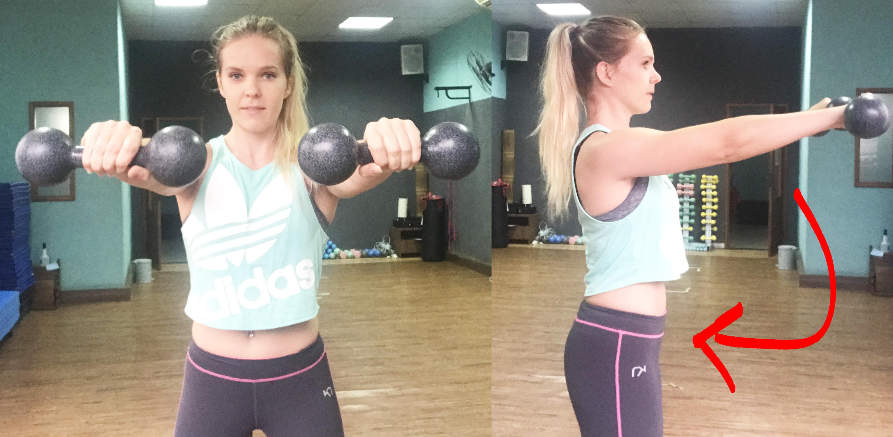 Träna axlar övningar med hantlar axelövningar gymmet hemma