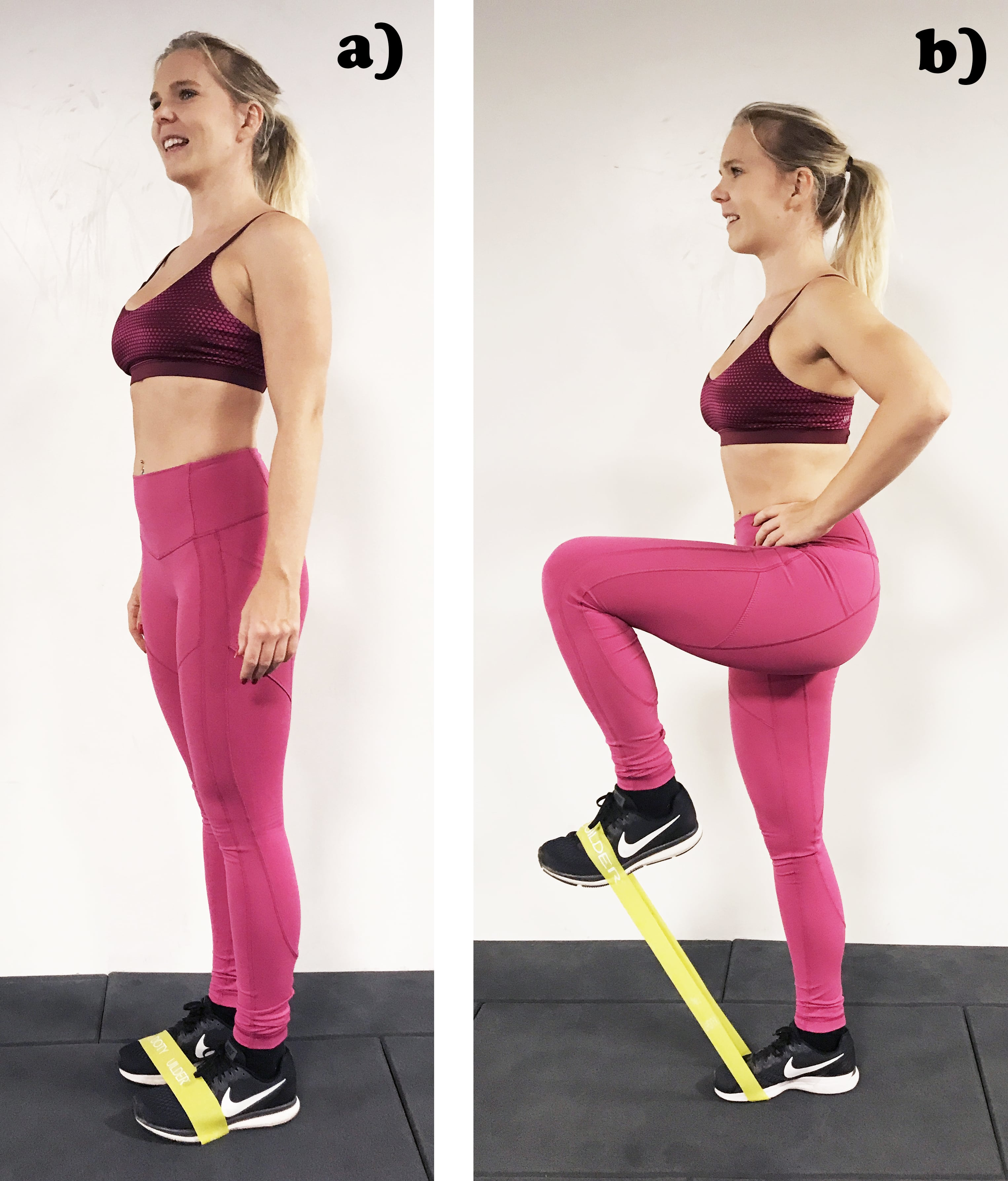 Gummiband träning för ben och rumpa benlyft