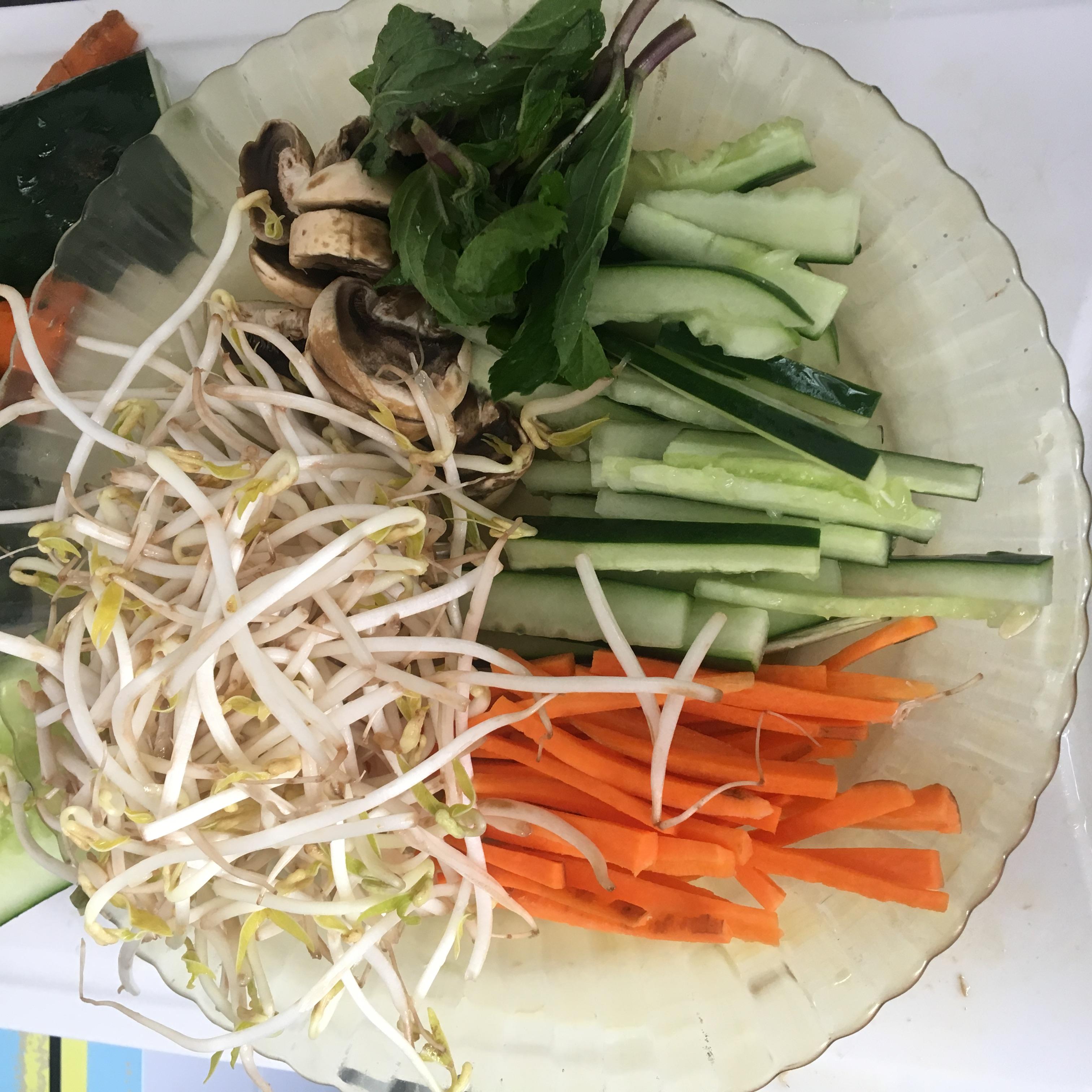 Veganska färska vårrullar