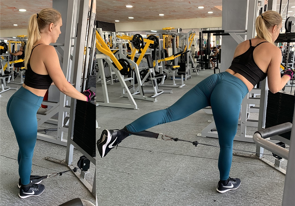 donkey kicks övning åsne sparkar övningar för rumpan gymmet