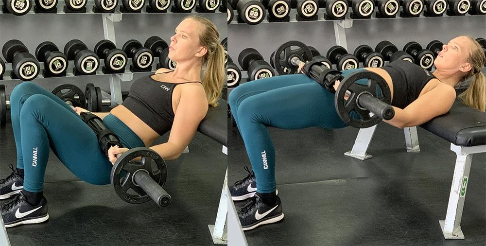 hip thrusts övning gymmet större rumpa schema