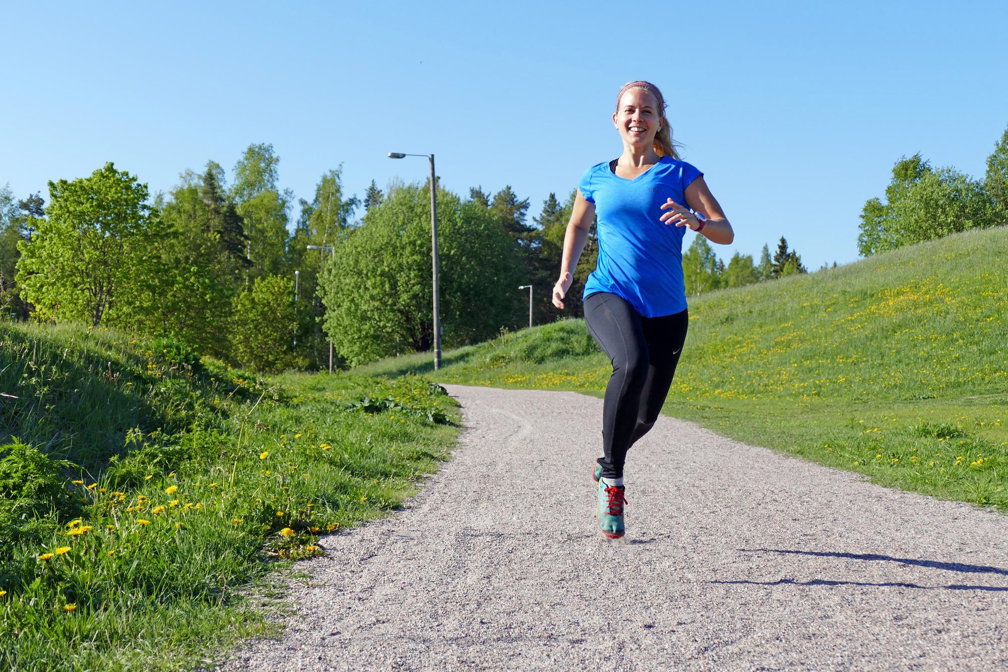 Lina Björkskog springer och tränar, blogg