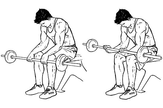 Träna vristerna, underarmarna, handlederna och fingrarna med omvända vristrotationer wrist curls