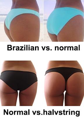 Brazilian bikini bikinitrosa halvstring