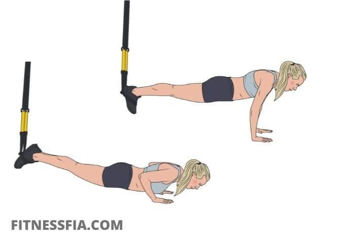 Övning trx armhävningar