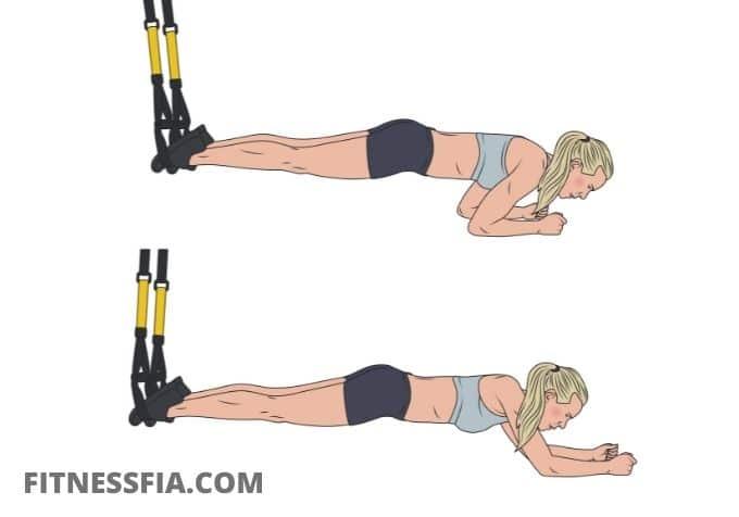 Plankan trx band övning