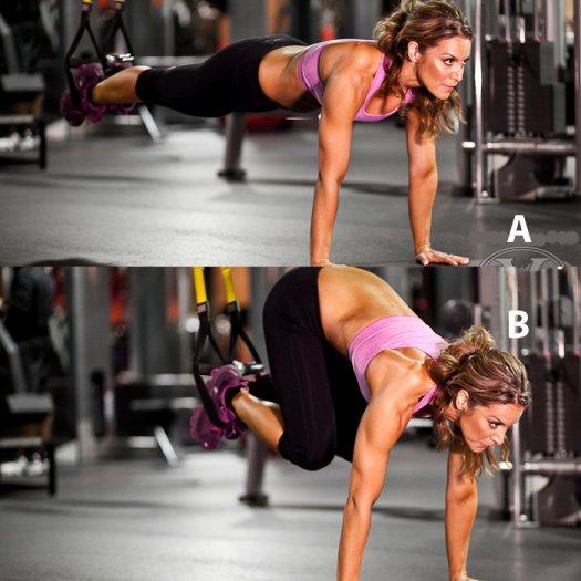 Trx övning magmuskler core