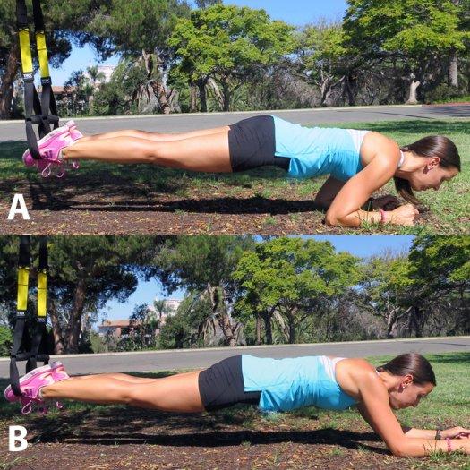 TRX övning plankan