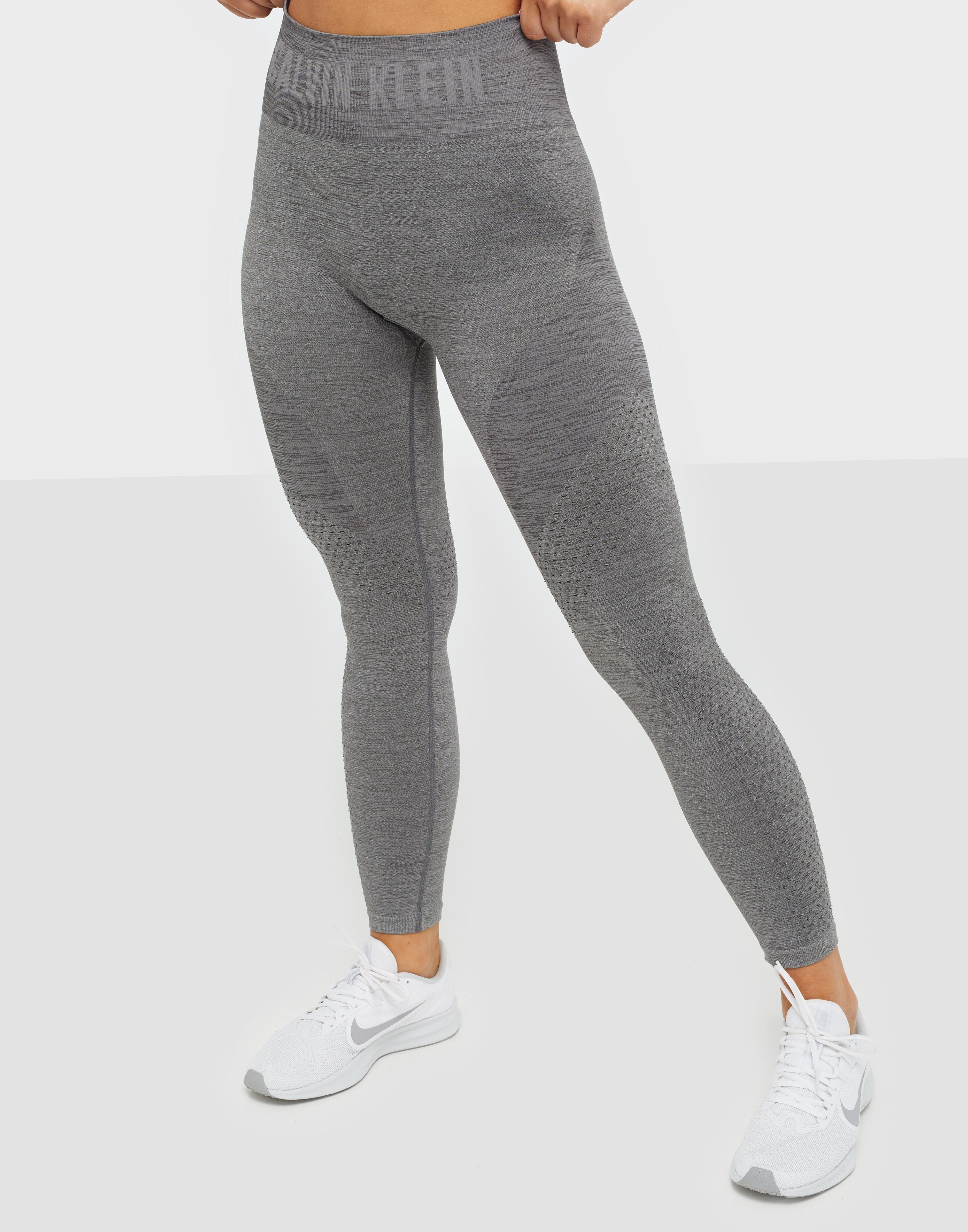 Calvin Klein träningstights med hög midja grå