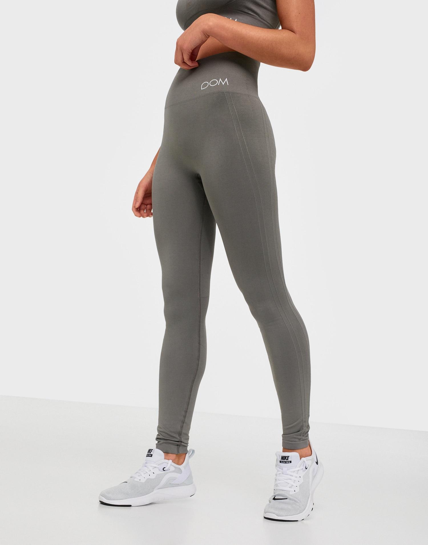 gråa tights hög midja träningstights gråa