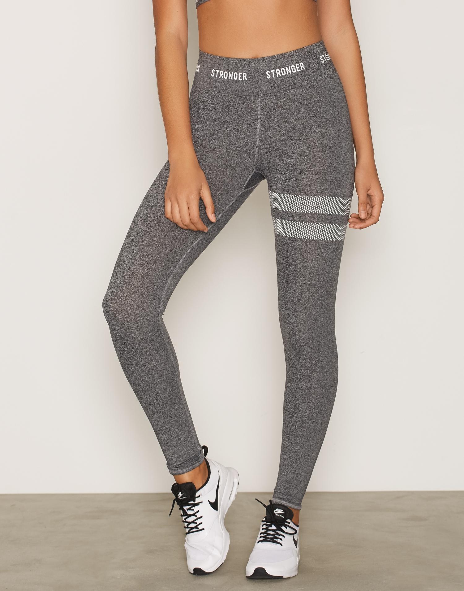 Stronger gråa träningstights seamless