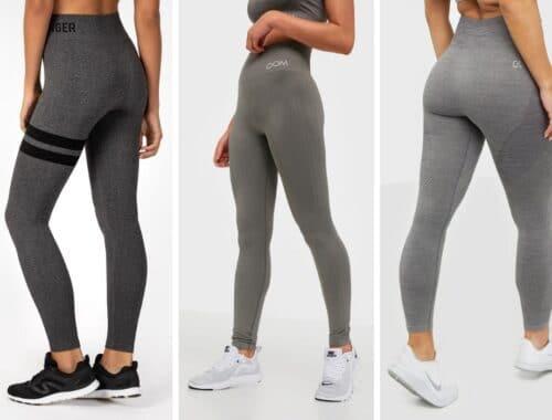 Gråa träningstights grå tights träningsbyxor