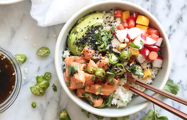 Poké bowl recept med lax