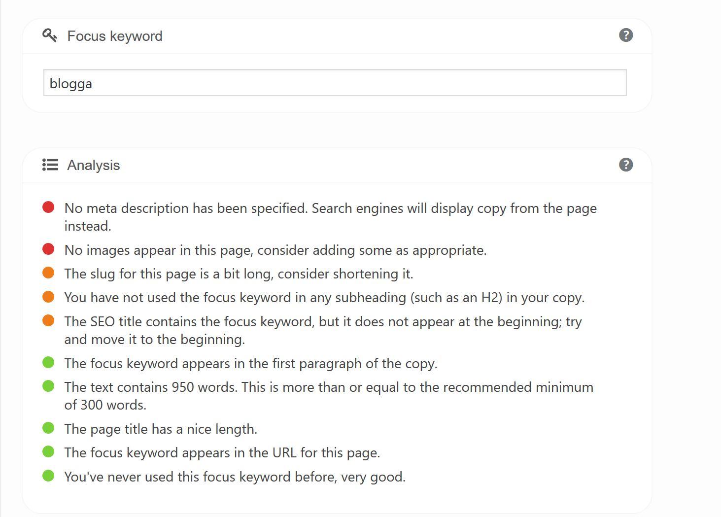 SEO-verktyg Yoast plug in för WordPress