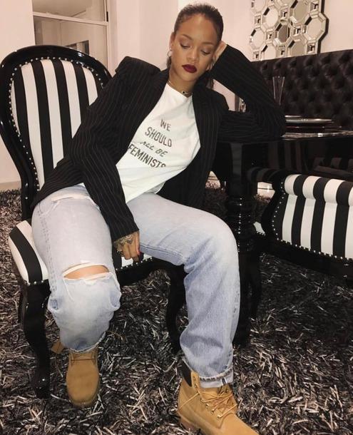 Feminist t shirt tröja Rihanna We should all be feminists