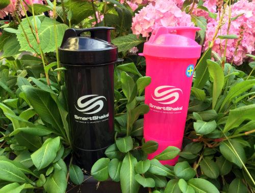 Smartshaker slim protein shaker rosa och svart