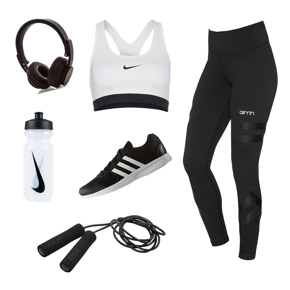 Svart och vita träningskläder