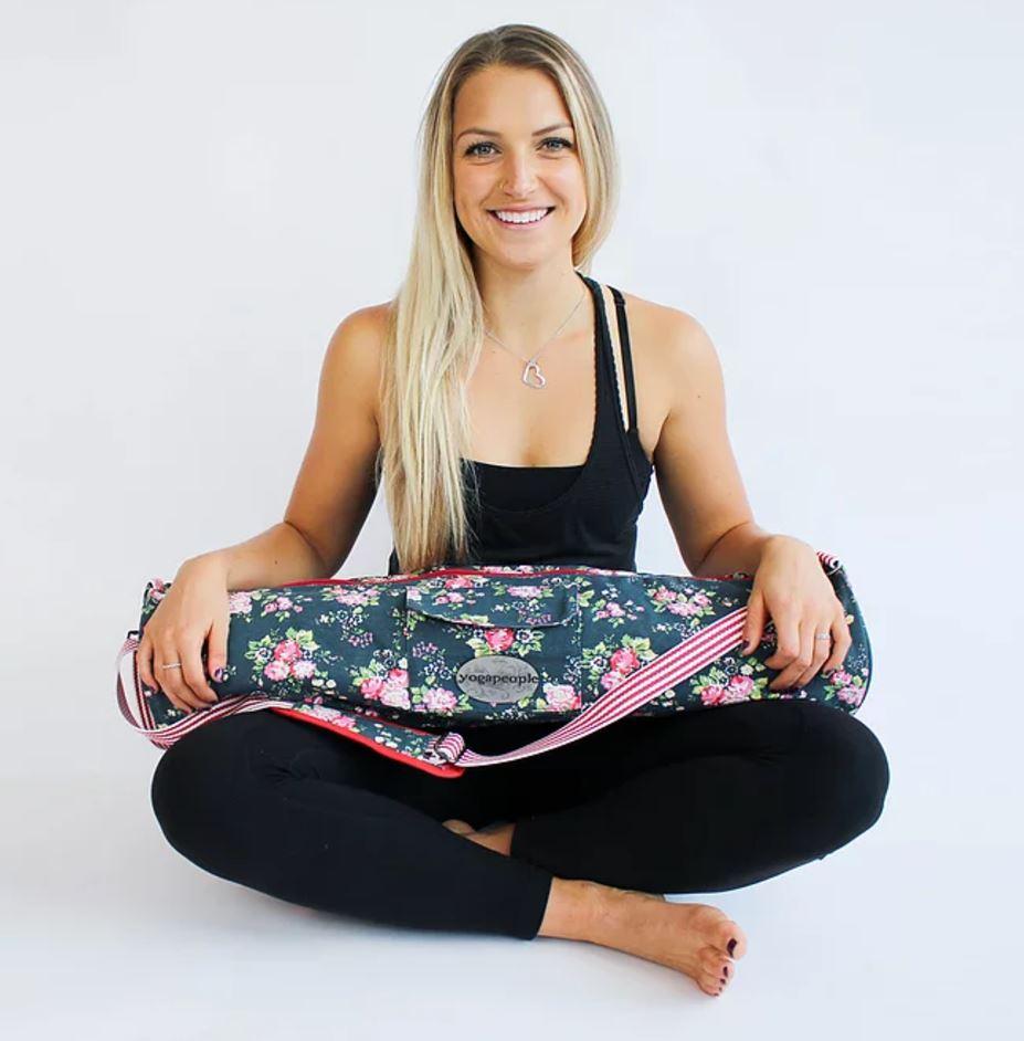 Yogaväska Yogapeople med mönster blommor