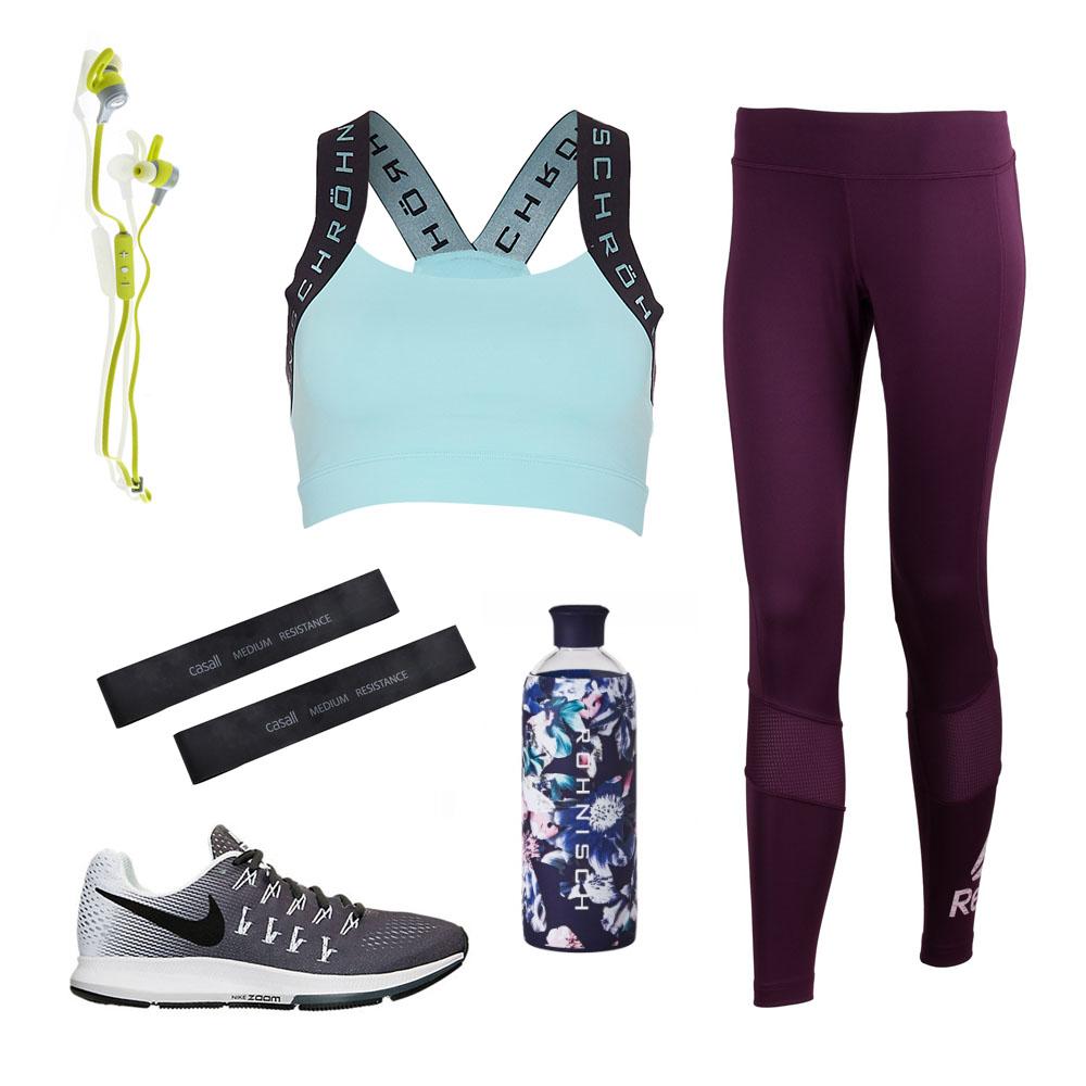 Träningsoutfit färgglada träningskläder