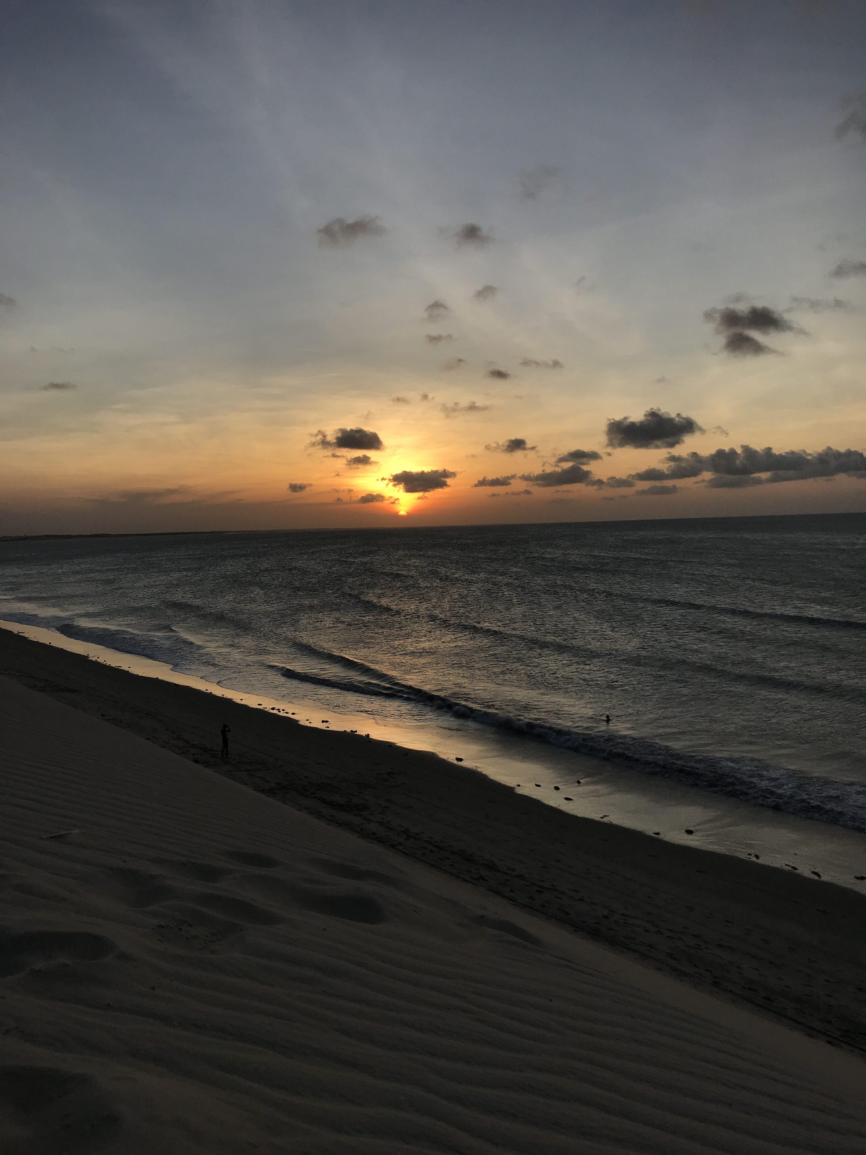 Solnedgång Brasilien Jericoacoara
