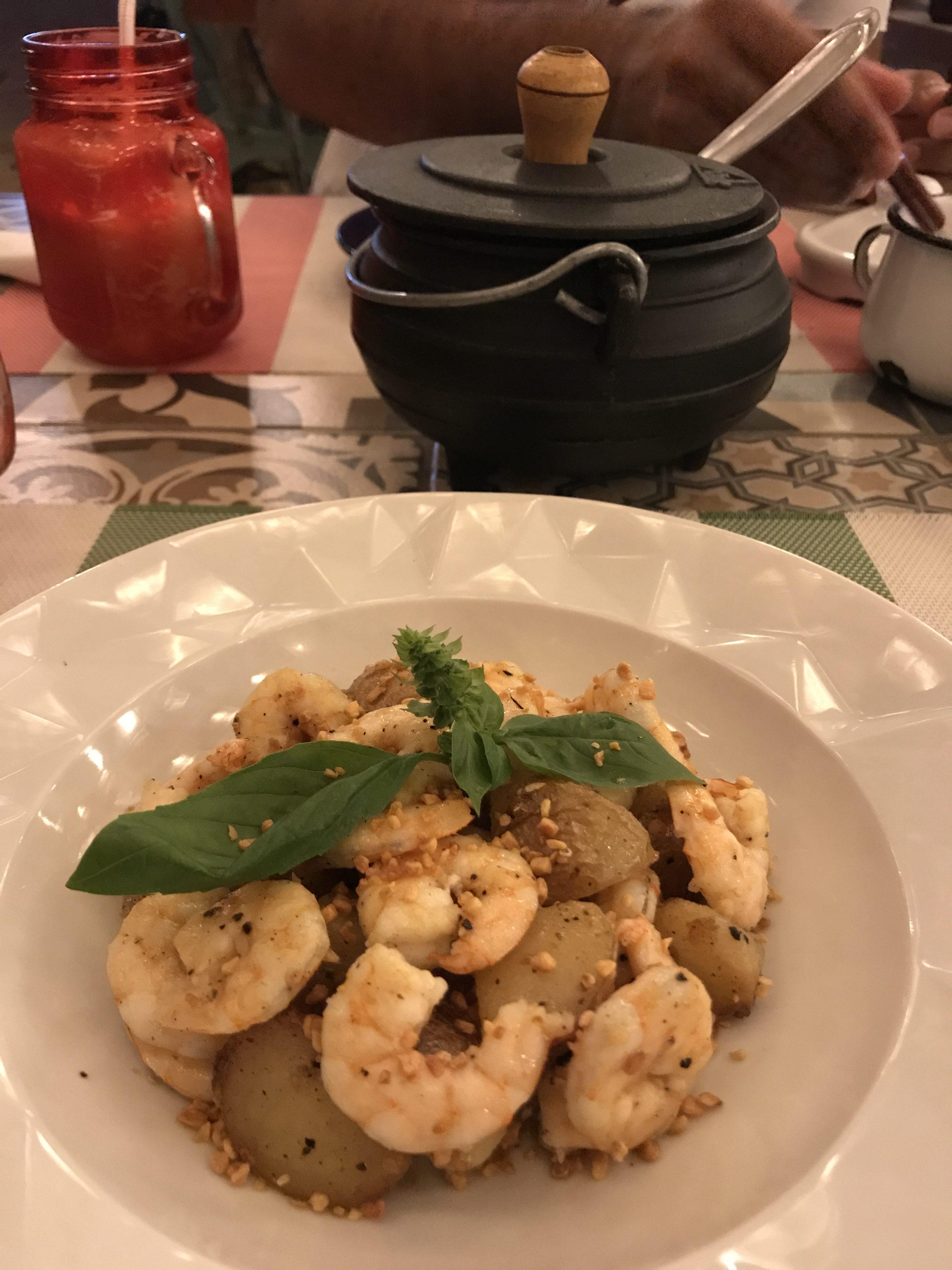 Mat i Jericoacoara räkor skaldjur