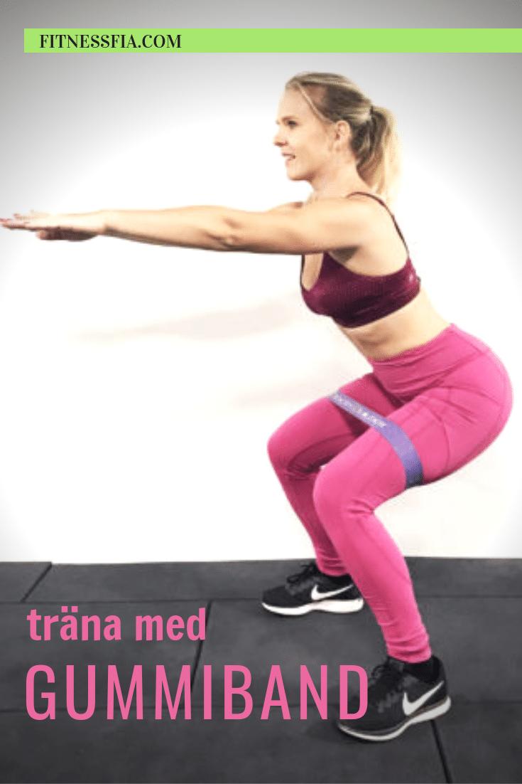 träna med gummiband övningar elastiskt band träningsband