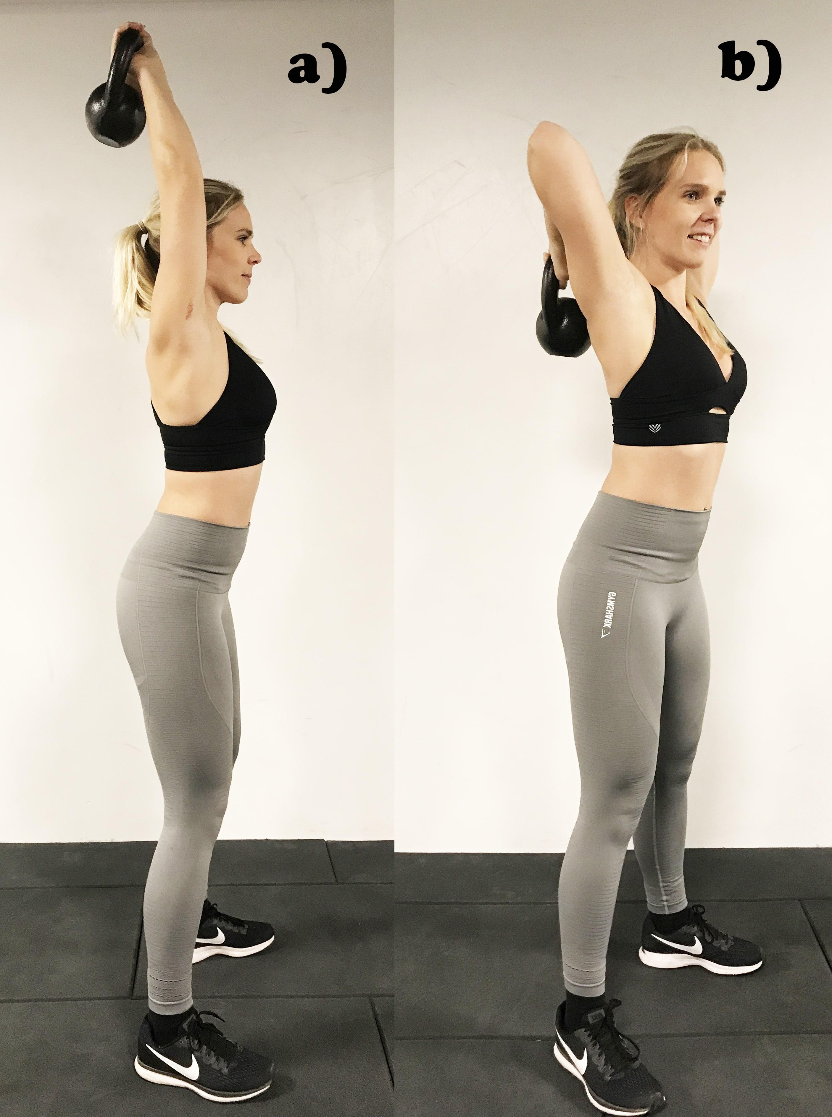 Kettlebell triceps övning tabata