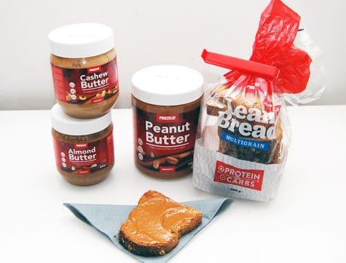 Nötsmör nyttigt jordnötssmör nyttigt mandelsmör nyttigt cashewnötsmör proteinbröd