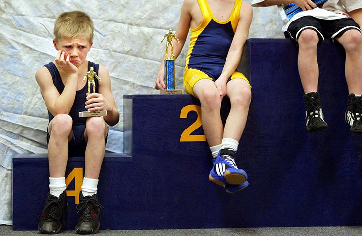 Dålig förlorare tävlingsmänniska