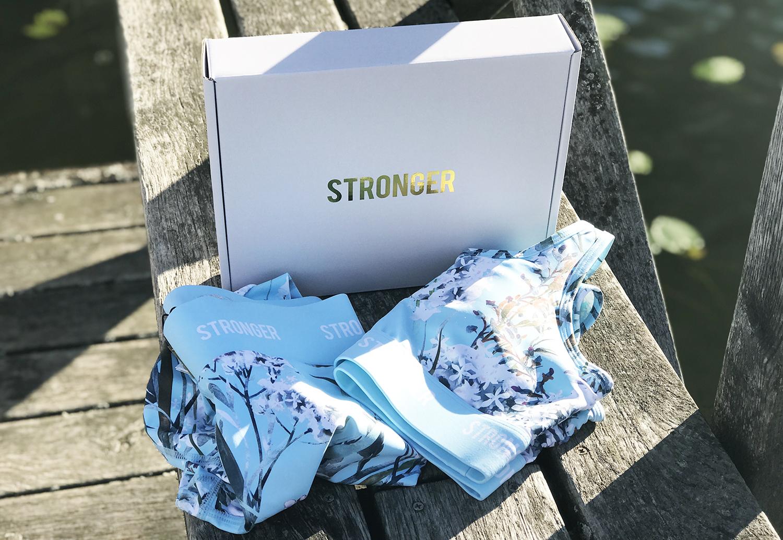 Stronger träningskläder träningsset topp tights matchande träningskläder