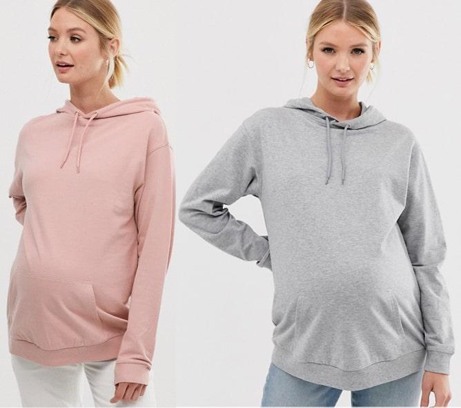 varm gravidtröja hoodie mammakläder