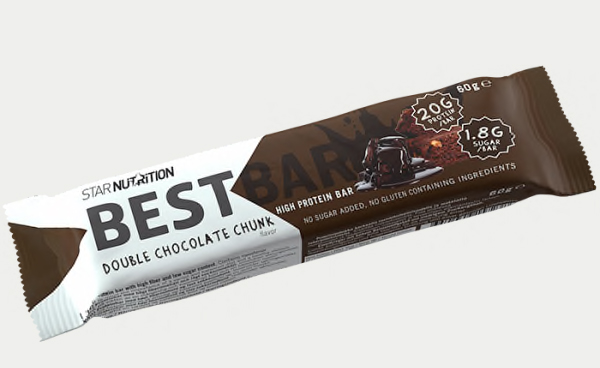 Best bar proteinbar gymgrossisten double chocolate chunk billigt