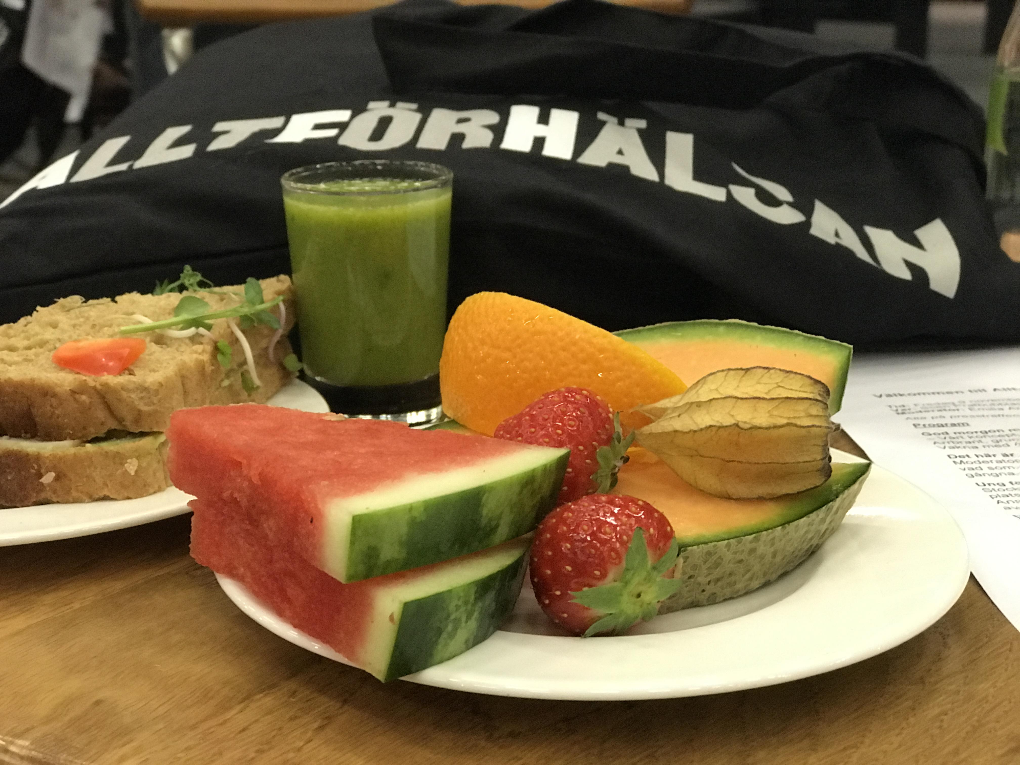 Pressfrukost hälsosam frukost Allt för hälsan 2018